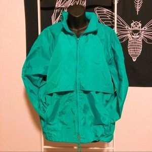 Vintage Eddie Bauer Raincoat Anorak teal green